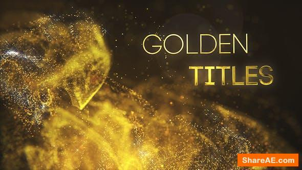 Videohive Golden Partilce Titles