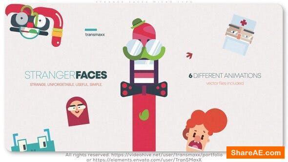 Videohive Strange Faces Micro Typo