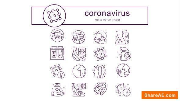 Videohive Coronavirus - Animated Icons