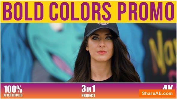 Videohive Bold Colors Promo