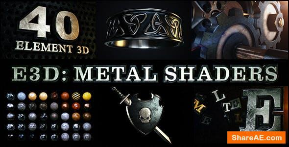 Videohive E3D: Metal Shaders for Element 3D
