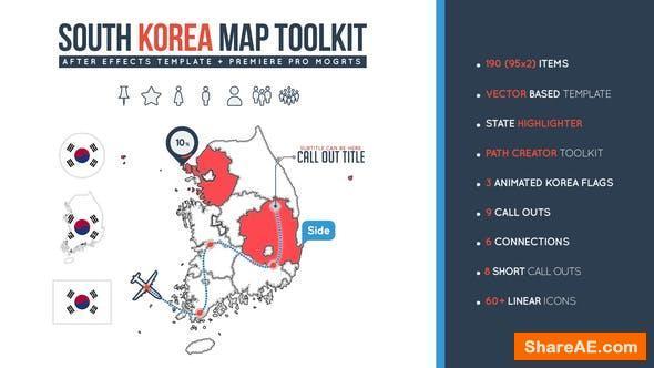Videohive South Korea Map Toolkit