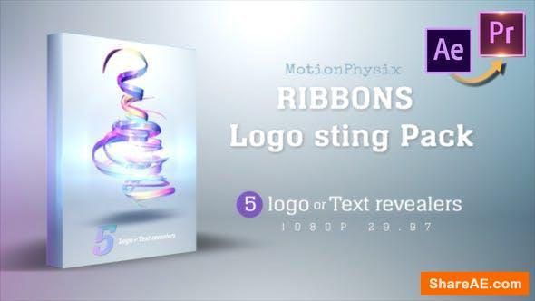 Videohive Ribbon logo Sting Pack - Premiere PRO