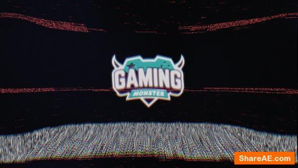 Videohive Old TV Glitch Logo