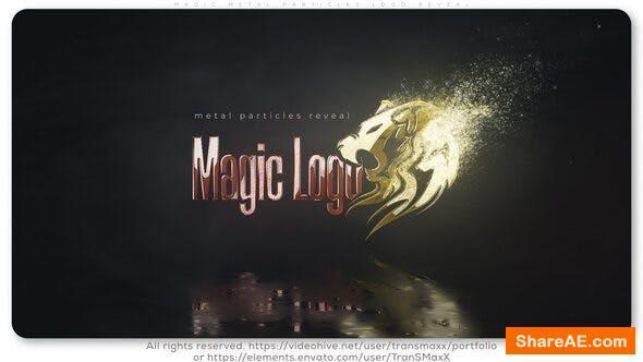 Videohive Magic Metal Particles Logo Reveal