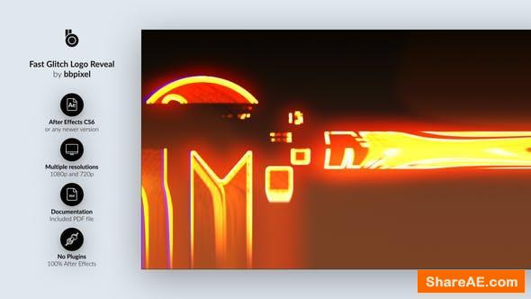 Videohive Fast Glitch Logo Reveal