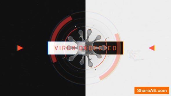 Videohive Virus Glitch Intro