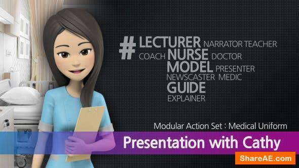 Videohive Presentation With Cathy: Medical Uniform