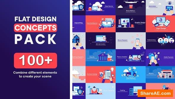Videohive Flat Design Concepts Pack