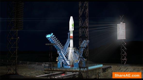 Videohive Night Rocket Launch