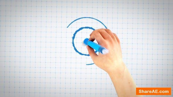 Videohive Hand Drawing Blueprint Logo Reveal - Premiere Pro