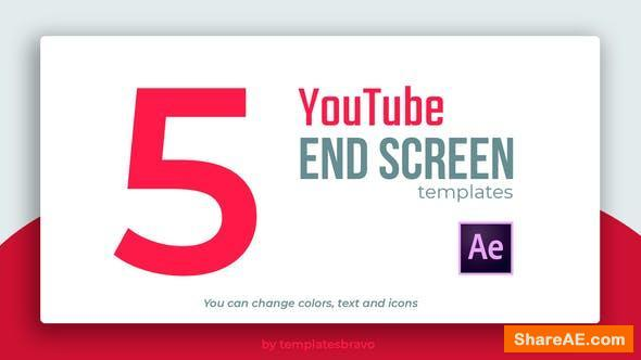 Videohive YouTube End Screens 24466065
