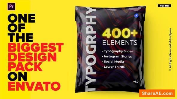 Videohive Typography Design Pack - for Premiere Pro   Essential Graphics