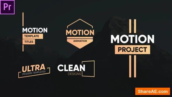 Videohive Clean Motion Titles-Premiere Pro