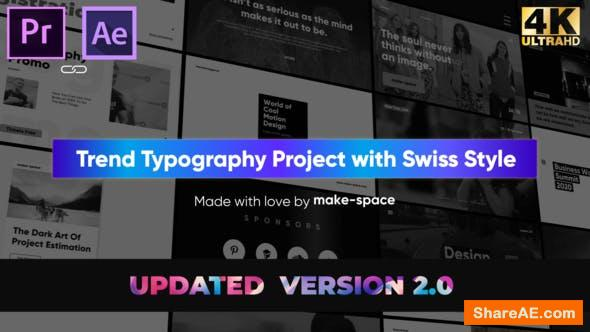 Videohive Swiss Typography Pack - for Premiere Pro | Essential Graphics
