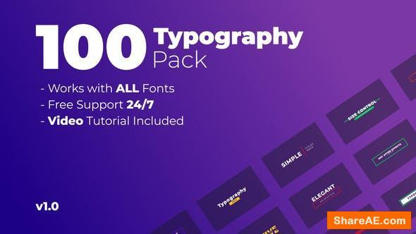 Videohive 100 Titles Pack 26329183