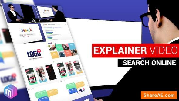 Videohive Explainer Video   Search and Find Online
