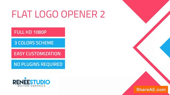 Videohive Flat Logo Opener 2