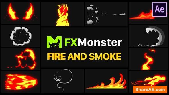 Videohive Fire And Smoke Elements | After Effects