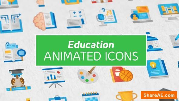 Videohive Education Modern Flat Animated Icons Free After Effects Templates After Effects Intro Template Shareae