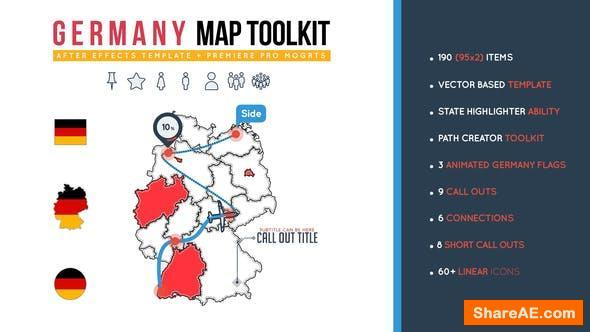 Videohive Germany Map Toolkit