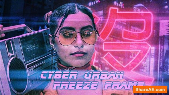 Videohive Cyber Urban Freeze Frame Opener - Premiere Pro
