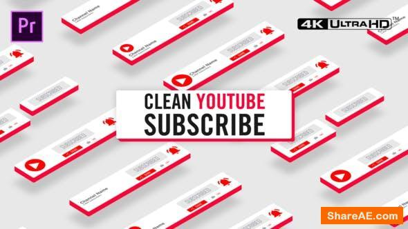 Videohive Clean Youtube Subscribe - Premiere Pro