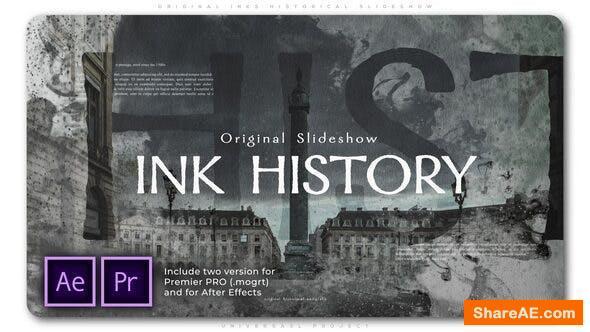 Videohive Original Inks Historical Slideshow - Premiere Pro