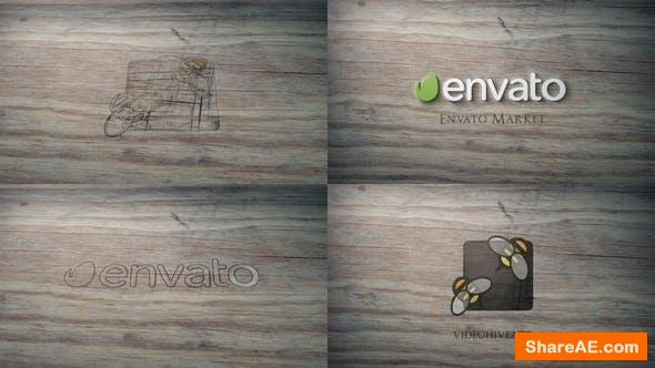 Videohive Scratched Wood Logo Reveal