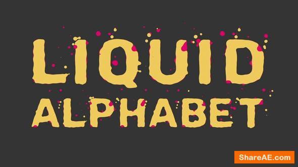Videohive Liquid Alphabet 23754381