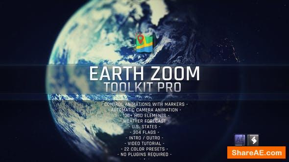 Videohive Earth Zoom Toolkit Pro 23319578