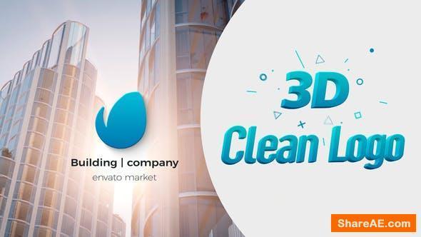 Videohive 3D Clean Logo