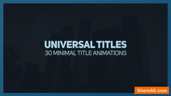 Videohive Universal Titles 2