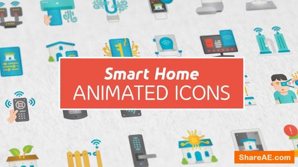 Videohive Smart Home Modern Flat Animated Icons