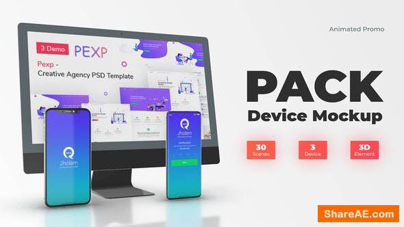 Videohive App Promo Web Mockup Devices