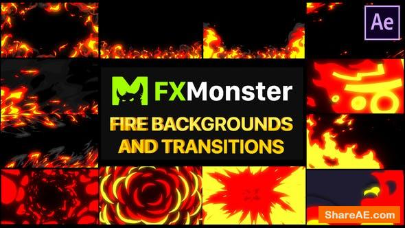 Videohive Fire Backgrounds And Transitions | After effects