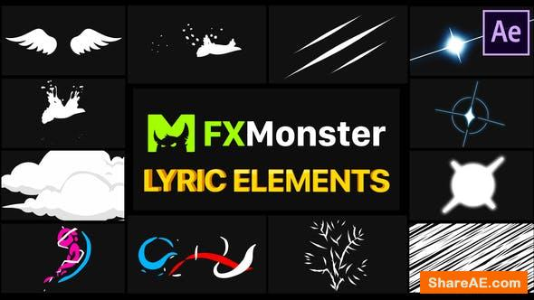 Videohive Lyric Elements | After Effects