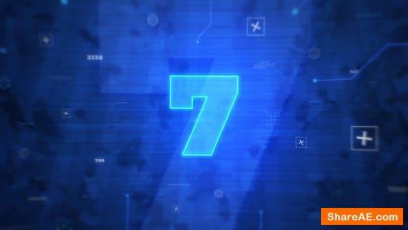 Videohive Digital Countdown Intro