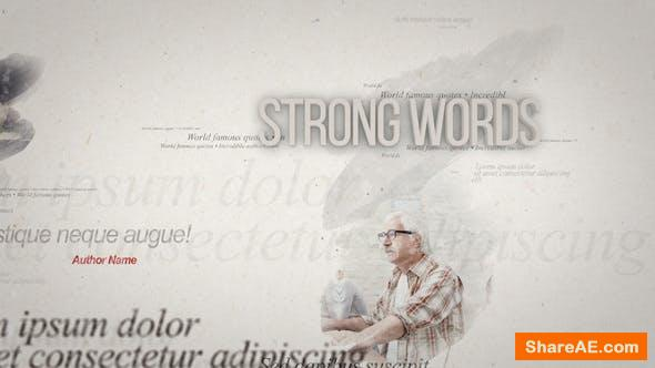 Videohive Quotes On Paper