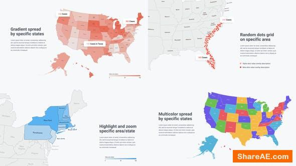 Videohive USA Map Infographics