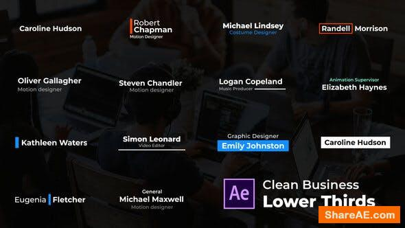 Videohive Clean Business Lower Thirds