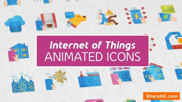 Videohive Internet of Things Modern Flat Animated Icons