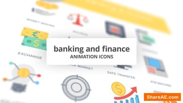 Videohive Banking and Finance - Animation Icons
