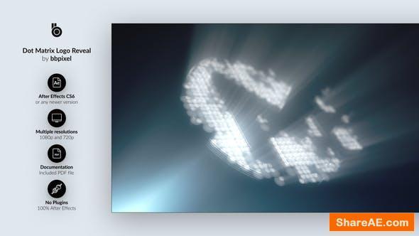 Videohive Dot Matrix Logo Reveal