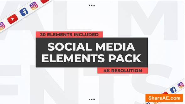 Videohive Social Media Elements Pack