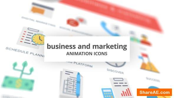 Videohive Business and Marketing - Animation Icons