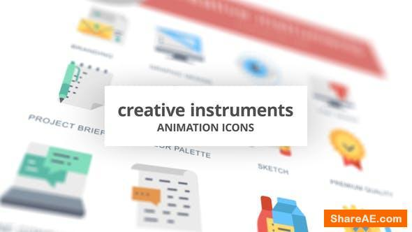 Videohive Creative Instruments - Animation Icons