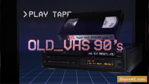 Videohive VHS Glitch Titles Presets