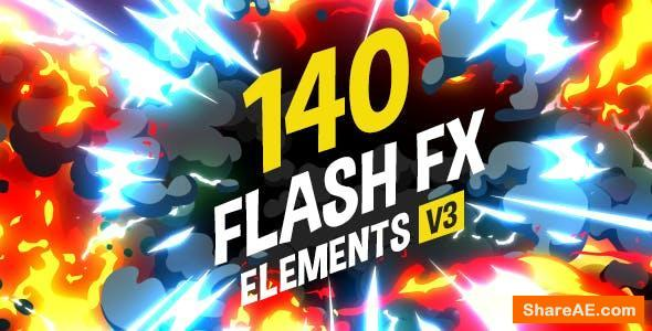 Videohive 140 Flash FX Elements v3 - After Effects Projects
