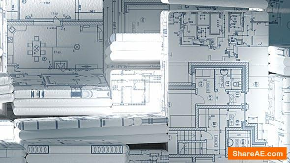 Videohive Construction and Electric Blueprints White Intro. 6 Ready Presets.